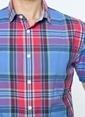 Dockers Kısa Kollu Kareli Gömlek Mavi